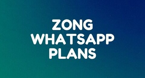 Zong daily, weekly, and monthly WhatsApp plans
